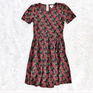 LulaRoe rose floral Amelia dress